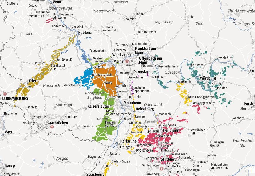 Weingebiete-Deutschland